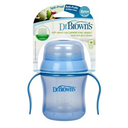 TAZA EDUCATIVA DR BROWN'S NATURAL FLOW +6M 180ML